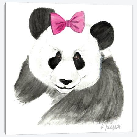 Girly Panda Canvas Print #DJA52} by Dawn Jackson Canvas Print