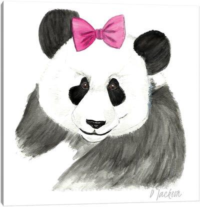 Girly Panda Canvas Art Print