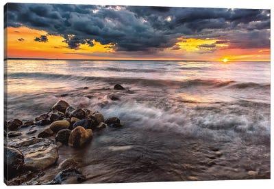 Lake Huron Sunset Canvas Art Print