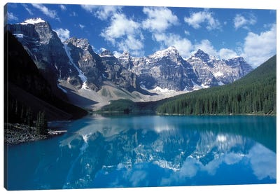 Valley Of The Ten Peaks & Moraine Lake, Banff National Park, Alberta, Canada Canvas Art Print