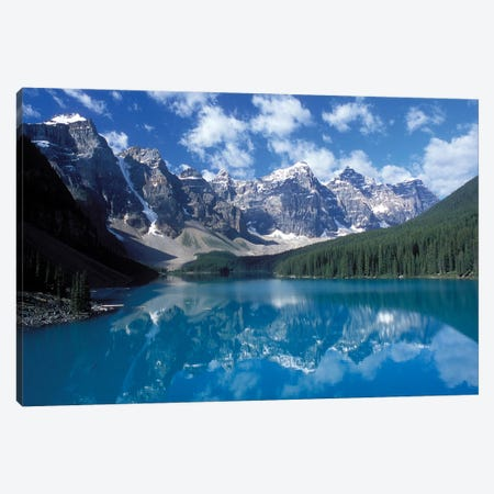 Valley Of The Ten Peaks & Moraine Lake, Banff National Park, Alberta, Canada Canvas Print #DJO1} by Diane Johnson Canvas Art Print