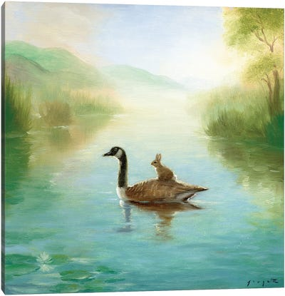 Isabella And The Goose Canvas Art Print