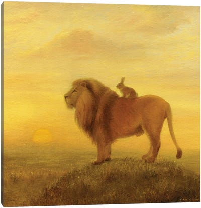 Isabella And The Lion Canvas Art Print