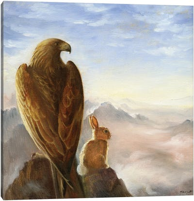 Isabella And The Eagle Canvas Art Print