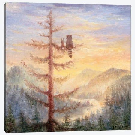 Isabella And The Tree Canvas Print #DJQ19} by David Joaquin Art Print