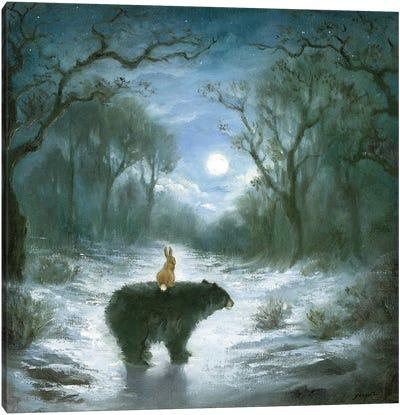 Isabella And The Bear Canvas Art Print