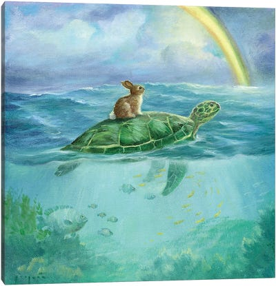 Isabella And The Turtle Canvas Art Print