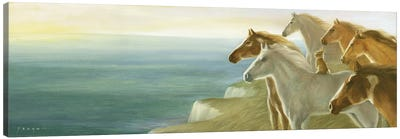 Isabella And All The Beautiful Horses Canvas Art Print