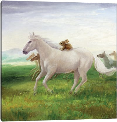 Isabella And The Herd Canvas Art Print
