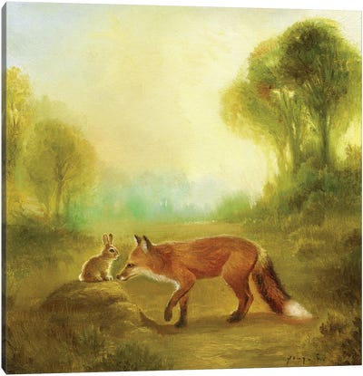 Isabella And The Fox Canvas Art Print