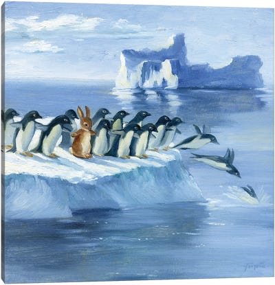Isabella And The Penguins Canvas Art Print