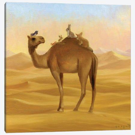 Isabella And The Sahara Canvas Print #DJQ34} by David Joaquin Canvas Wall Art