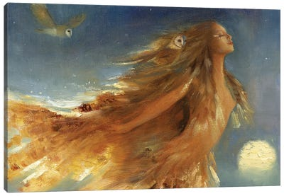 Owl Woman Canvas Art Print