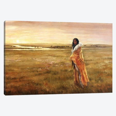 The Return Of White Buffalo Woman Canvas Print #DJQ43} by David Joaquin Canvas Art