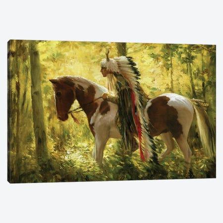 Warhorse Canvas Print #DJQ45} by David Joaquin Canvas Print