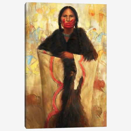 She Speaks Canvas Print #DJQ50} by David Joaquin Canvas Print