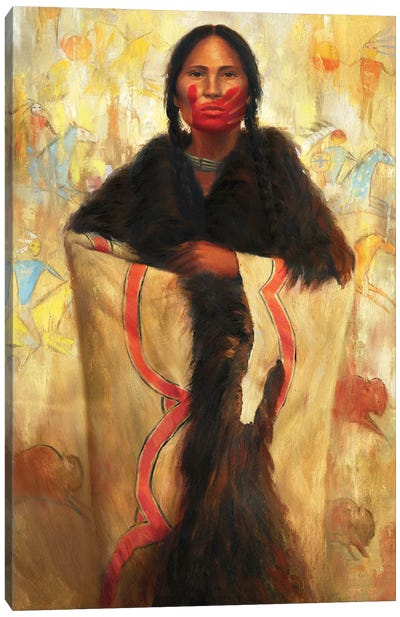 She Speaks Canvas Art Print