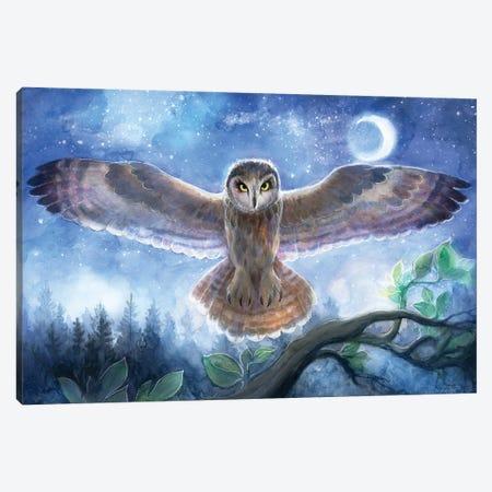 Spirit Owl Canvas Print #DJQ51} by David Joaquin Canvas Art Print