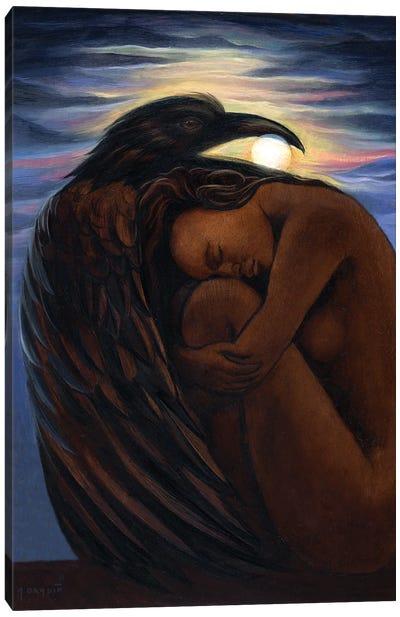 Raven Earth Canvas Art Print