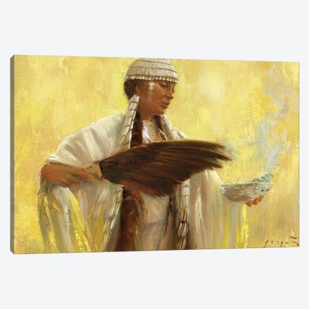 Blessings Canvas Print #DJQ63} by David Joaquin Canvas Artwork