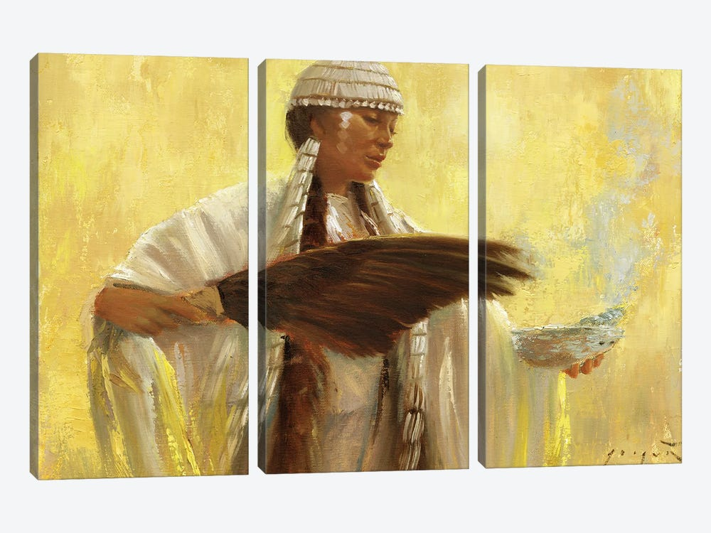 Blessings by David Joaquin 3-piece Canvas Art Print