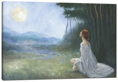Daughter Of The Moon Canvas Art Print