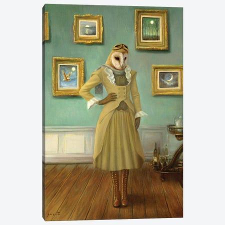 House Of The Owl Canvas Print #DJQ72} by David Joaquin Art Print