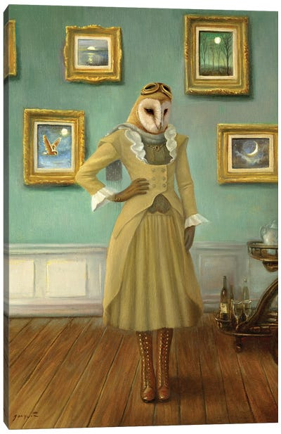 House Of The Owl Canvas Art Print