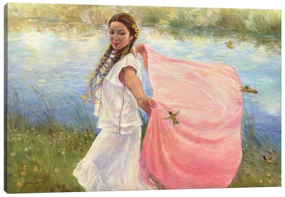 Hummingbird Dancer Canvas Art Print