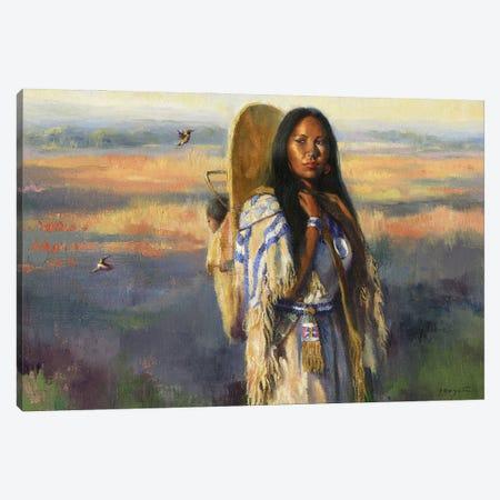 Bird Woman (Sacajawea) Canvas Print #DJQ75} by David Joaquin Canvas Artwork