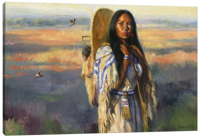 Bird Woman (Sacajawea) Canvas Art Print