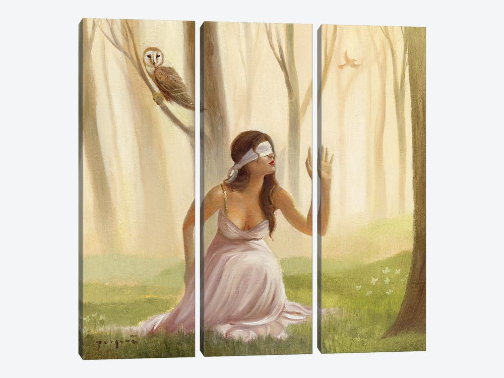 Teaching Herself How To See by David Joaquin 3-piece Canvas Artwork