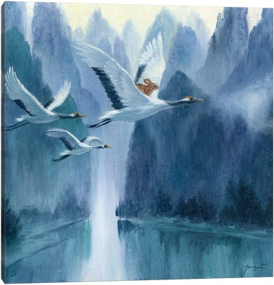 Isabella And The Cranes Canvas Art Print
