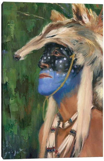 Mica Blue Coyote Canvas Art Print