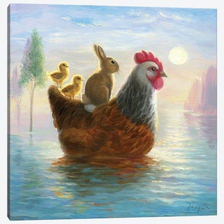 Isabella And The Flood Canvas Print #DJQ93} by David Joaquin Art Print