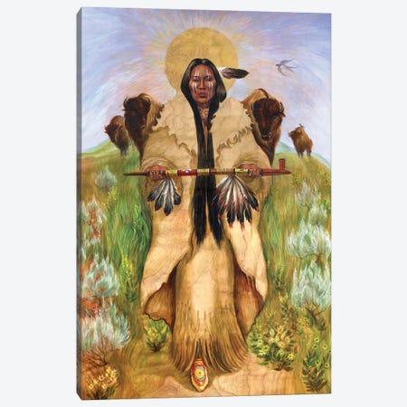 Sacred Homage To Vera  Drysdale Buffalo Woman Canvas Print #DJQ94} by David Joaquin Canvas Wall Art