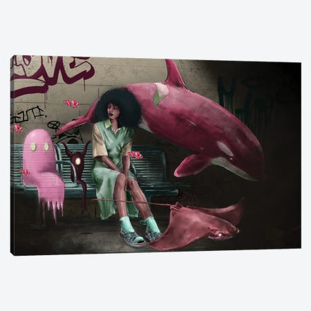 Bus Stoppe Canvas Print #DJS24} by Daniel James Smith Canvas Print