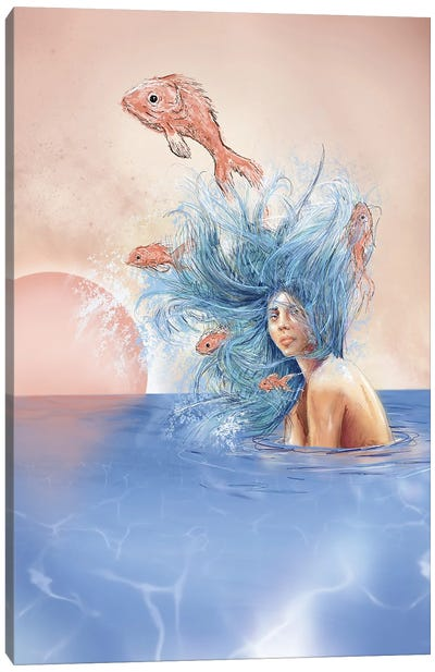Salmon Canvas Art Print