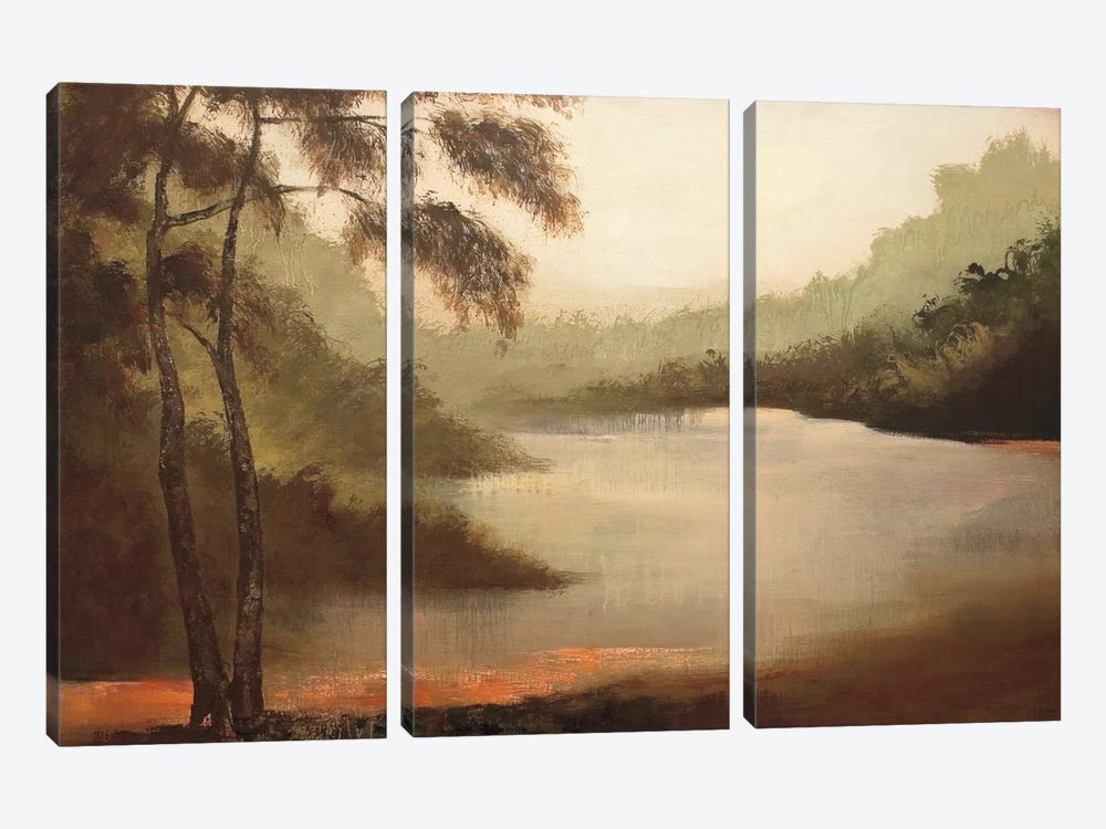La Bege by Denis Jully 3-piece Canvas Art Print