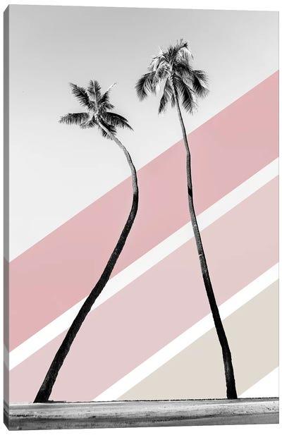 Double Palm Pink Canvas Art Print
