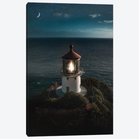 Lighthouse Night Canvas Print #DKE16} by Daniel Keating Canvas Art Print