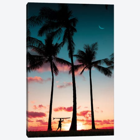 Moon Surf Canvas Print #DKE18} by Daniel Keating Canvas Artwork
