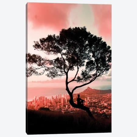Pink Tree Canvas Print #DKE26} by Daniel Keating Canvas Art