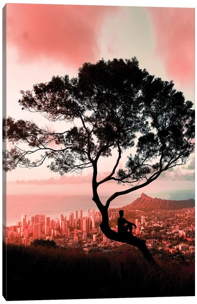 Pink Tree Canvas Art Print