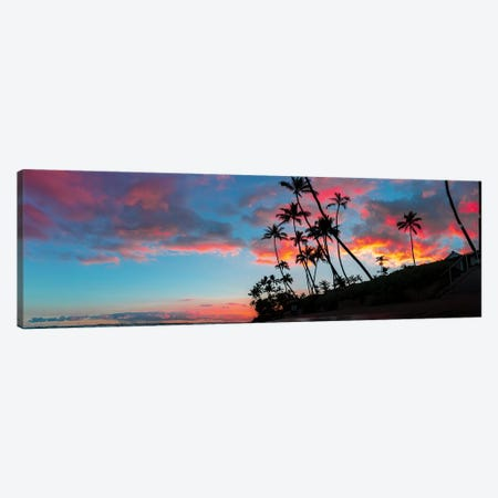 Sunset Panoramic Canvas Print #DKE35} by Daniel Keating Canvas Print