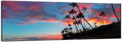 Sunset Panoramic Canvas Art Print