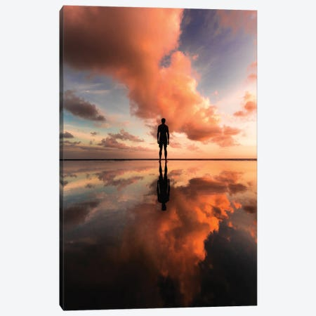 Summer Sunset Canvas Print #DKE55} by Daniel Keating Canvas Art Print