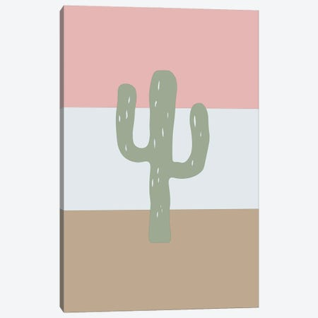 Cactus Calm Canvas Print #DKE63} by Daniel Keating Art Print