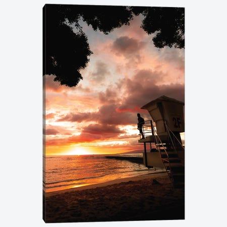Waikiki Sunset Canvas Print #DKE69} by Daniel Keating Art Print