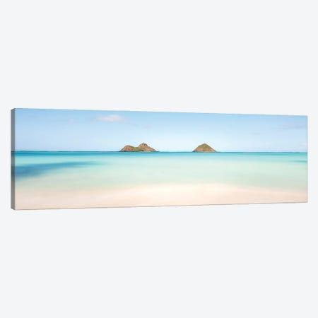 Lanikai Beach - Paradise - Panorama Canvas Print #DKE79} by Daniel Keating Canvas Wall Art
